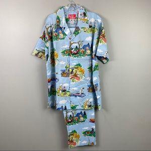 Frankie & Johnny Dogs Pajamas Lounge Wear XL